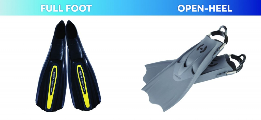 type of fins for scuba